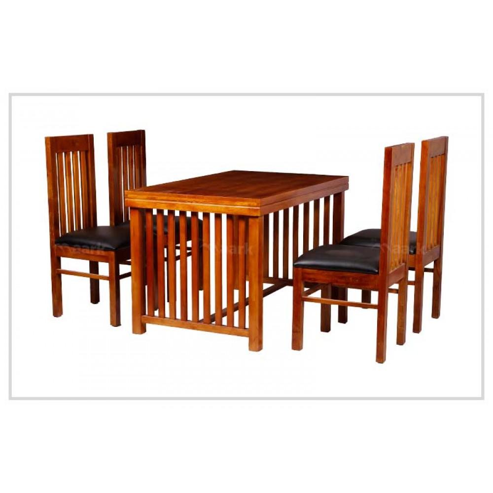Window Teak Wood Dining Table
