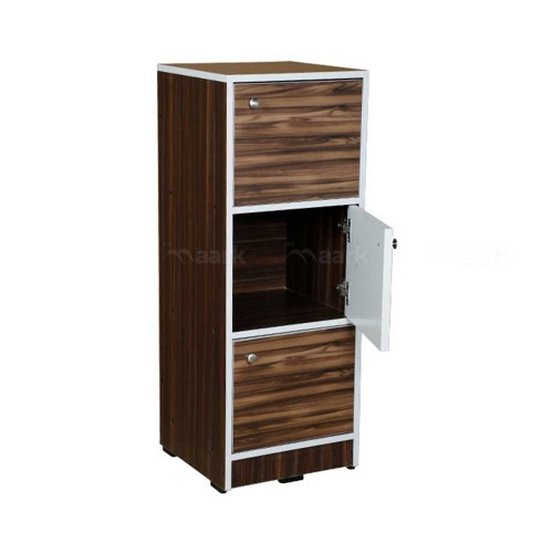 WOODEN CHEST OF DRAWER THREE DOOR IN GLOSSY FINISH