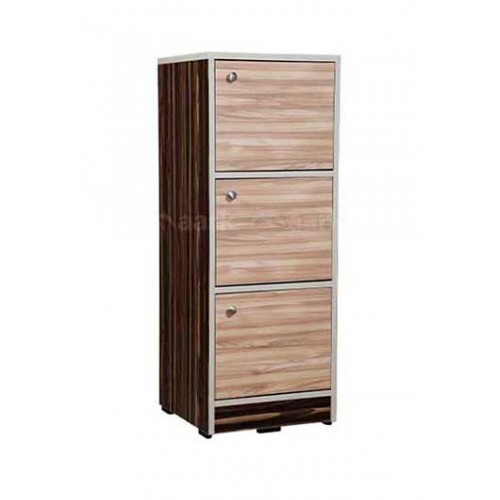 WOODEN CHEST OF DRAWER THREE DOOR IN SANDAL COLOR