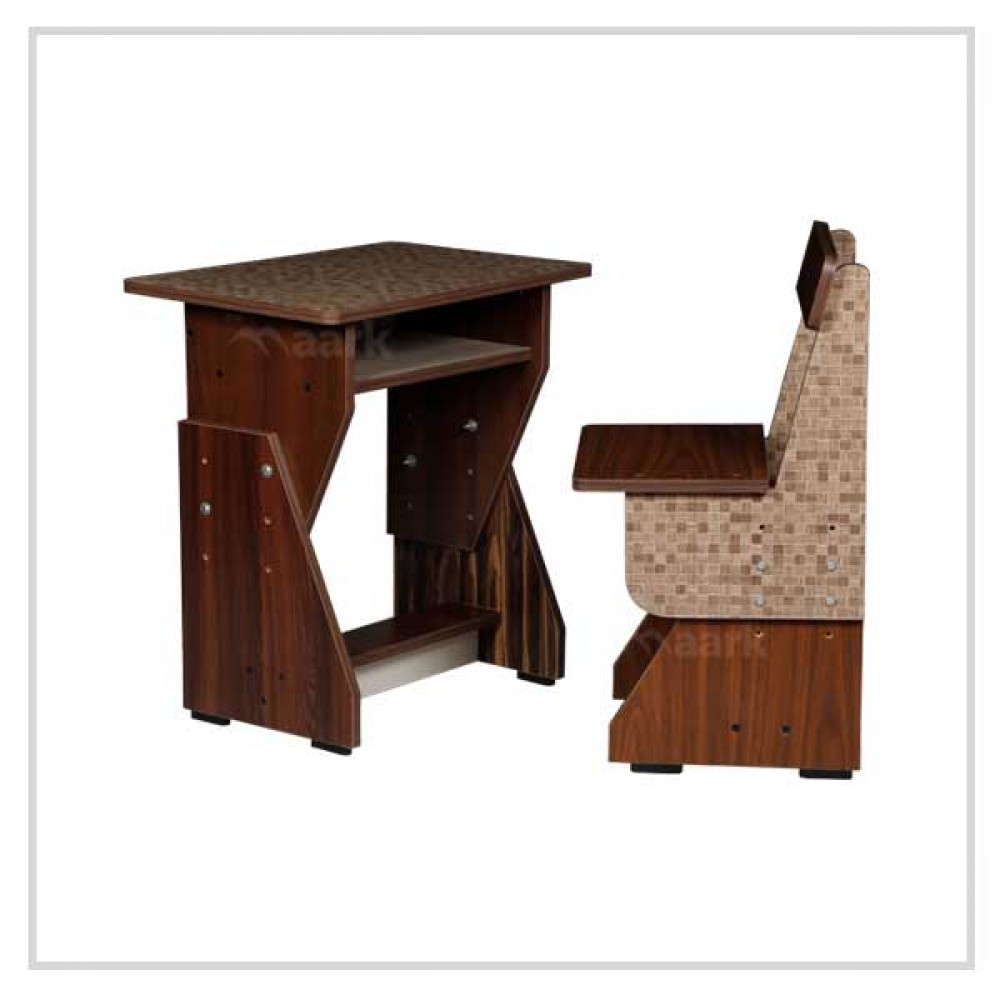 Wooden  Kids Study Table in Brown Colour