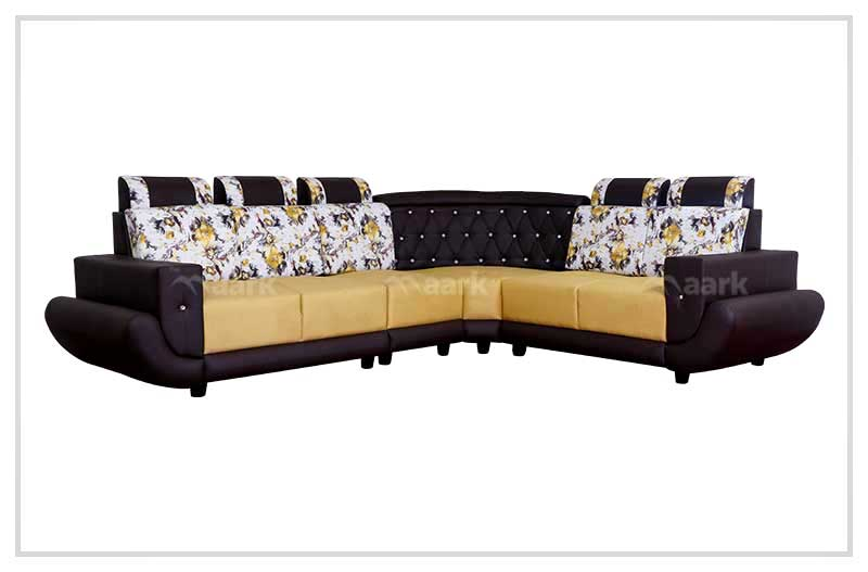 Diamond Fabric Corner Sofa