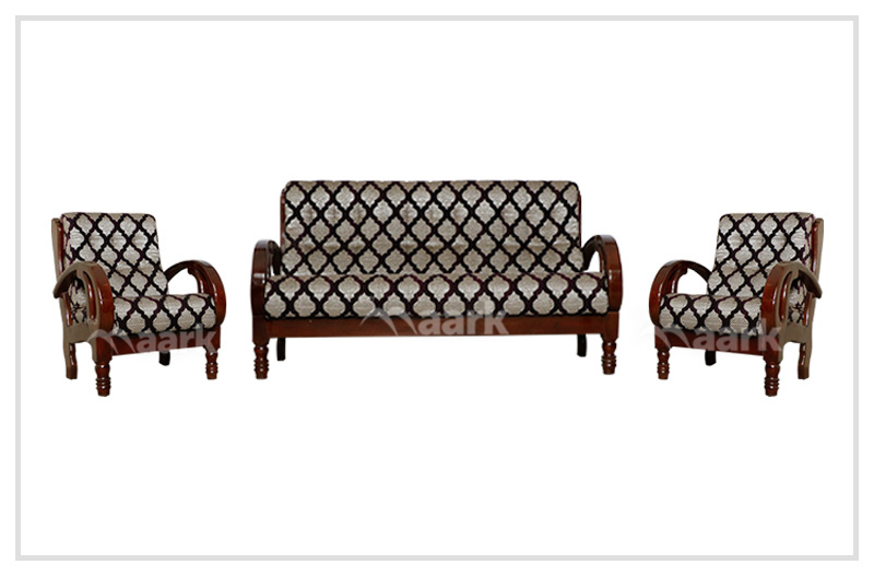 Madisson Teak Wooden Fabric Sofa