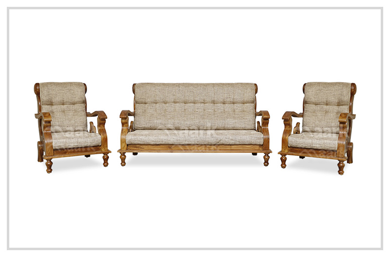 Sandal Teak Wood Sofa 3+1+1