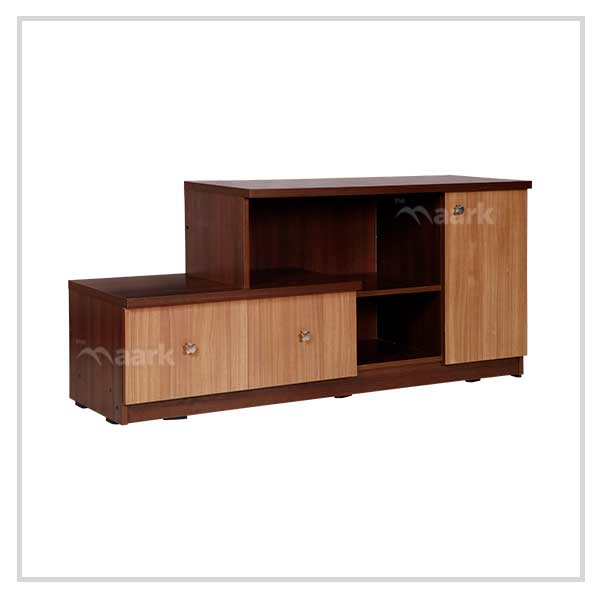 Brown Wooden Bottom TV Unit