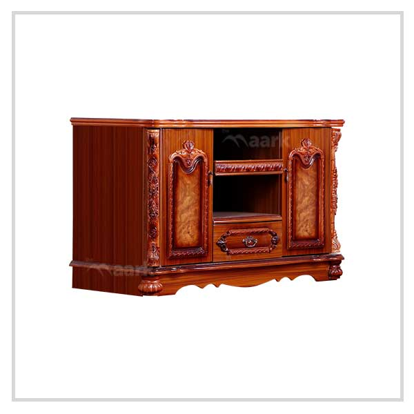 Brown Wooden TV Cabinet