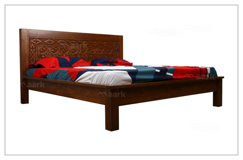 Minimal Teak Wood King Size Cot