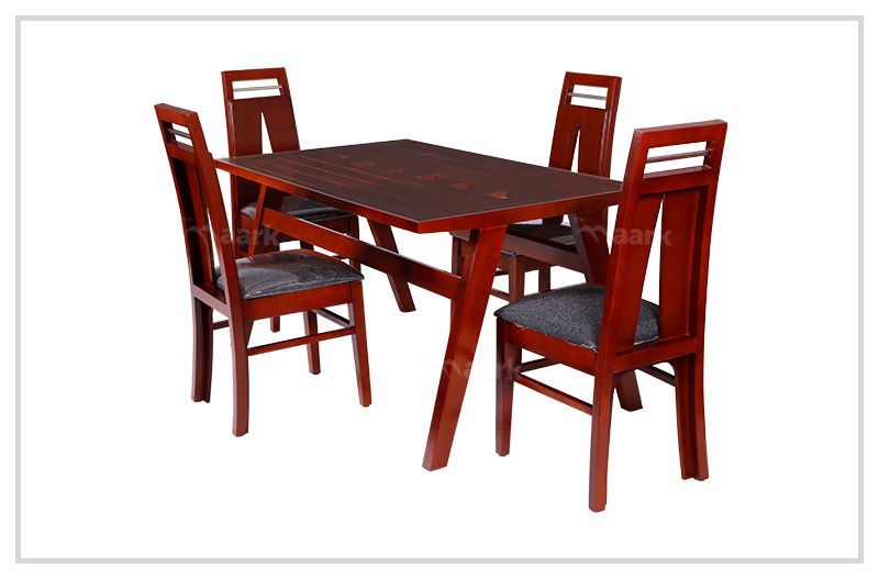 EC Brown Rubber Wood Dining Table