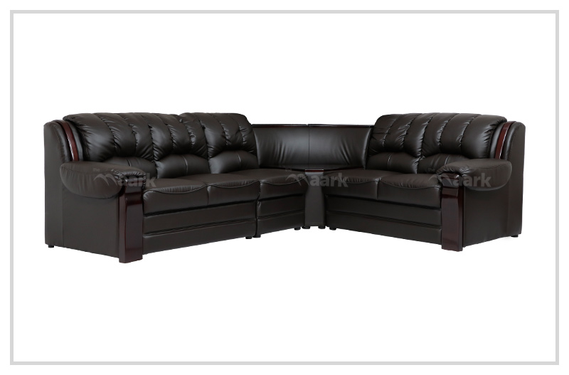 Hampton Leatherette Corner Sofa