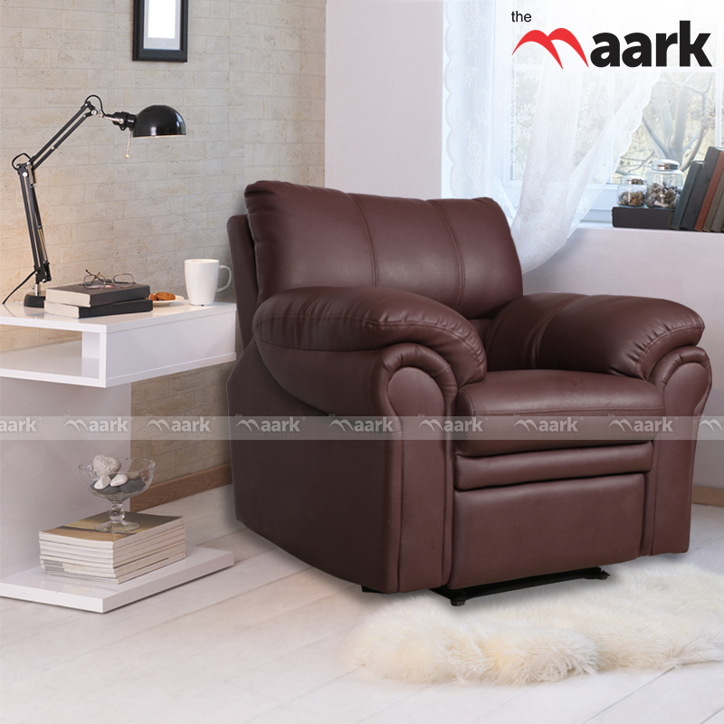 Leather Single Recliner Sofa