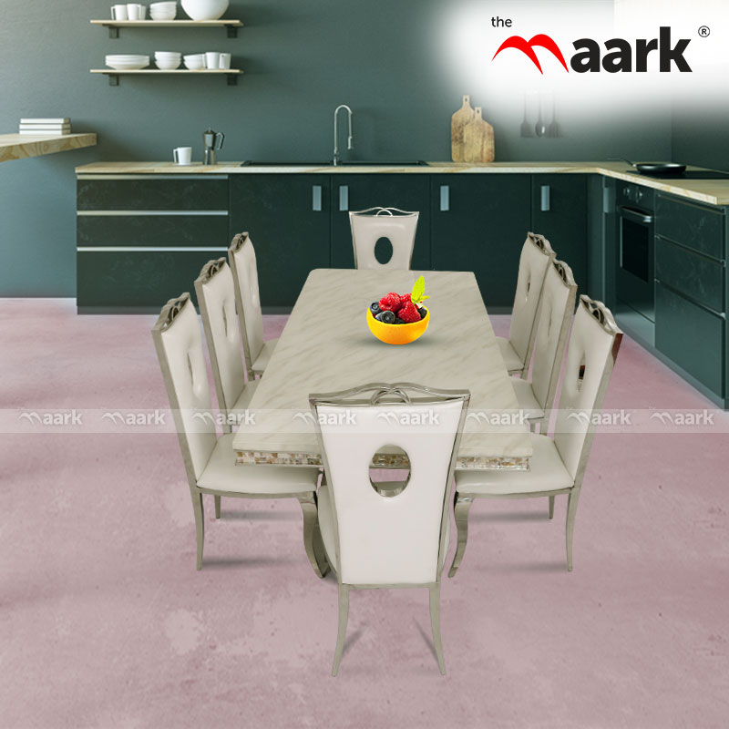 The Maark Wooden With Grace Marble Dining