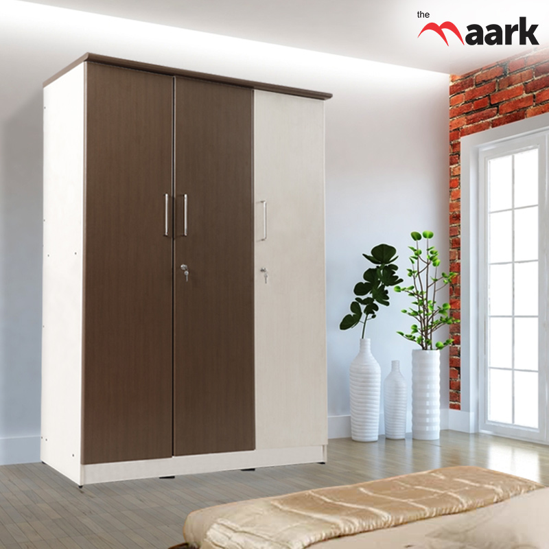 Double Colour Three Door Wardrobe