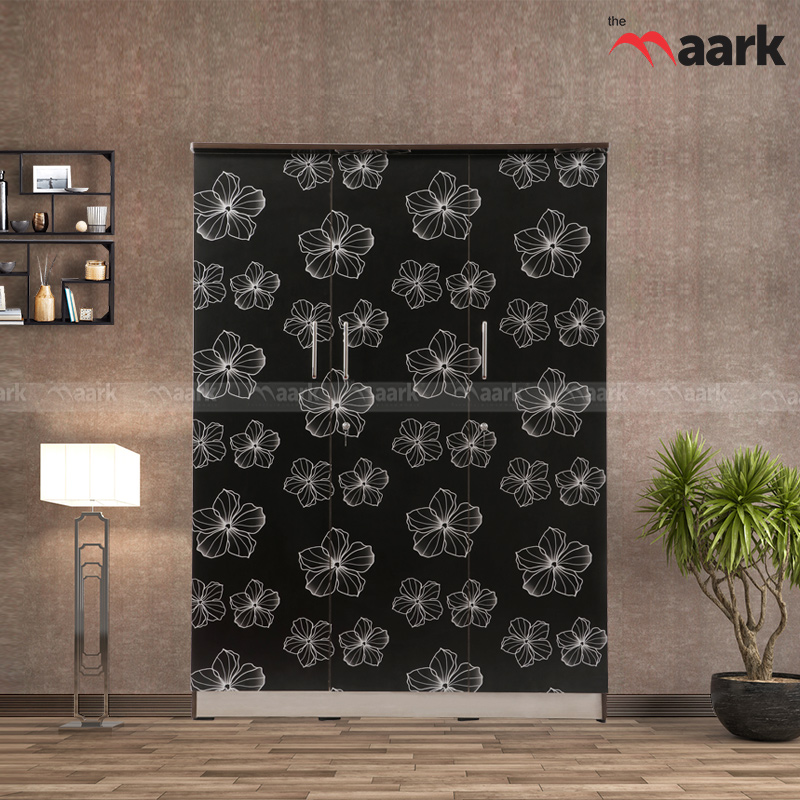 Flower Designed Wardrobe