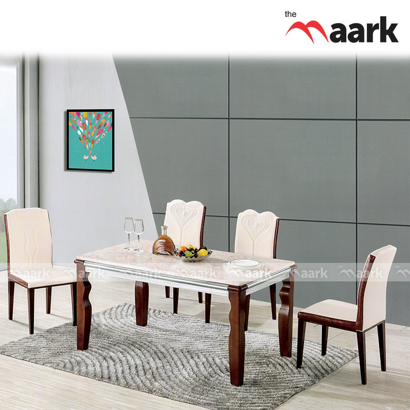 The Maark Wooden With Rich Marble Dining