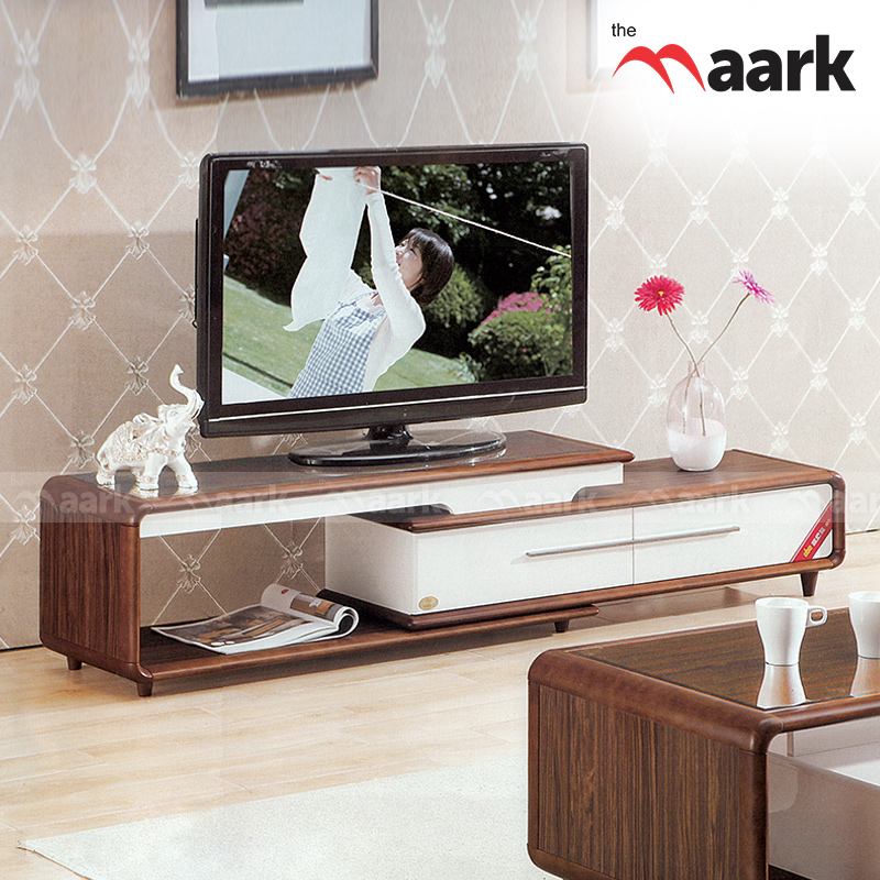 Brown With White TV Unit