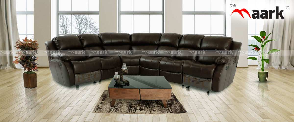 Impressive U Shaped Leather Sofa