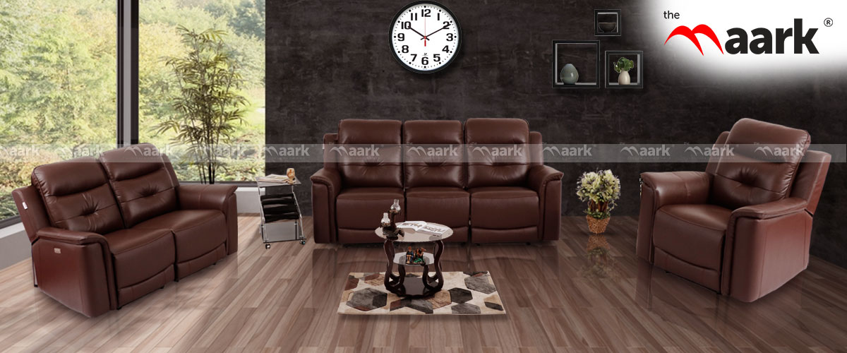 Denzel Leather Set Sofa