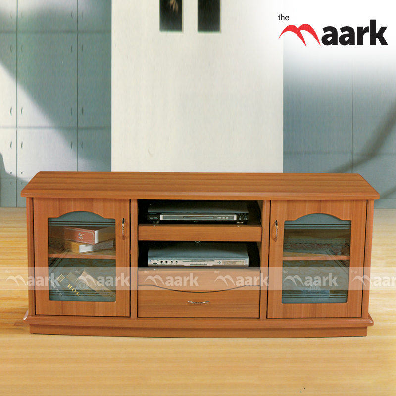 Wooden Two Door Open TV Cabinet