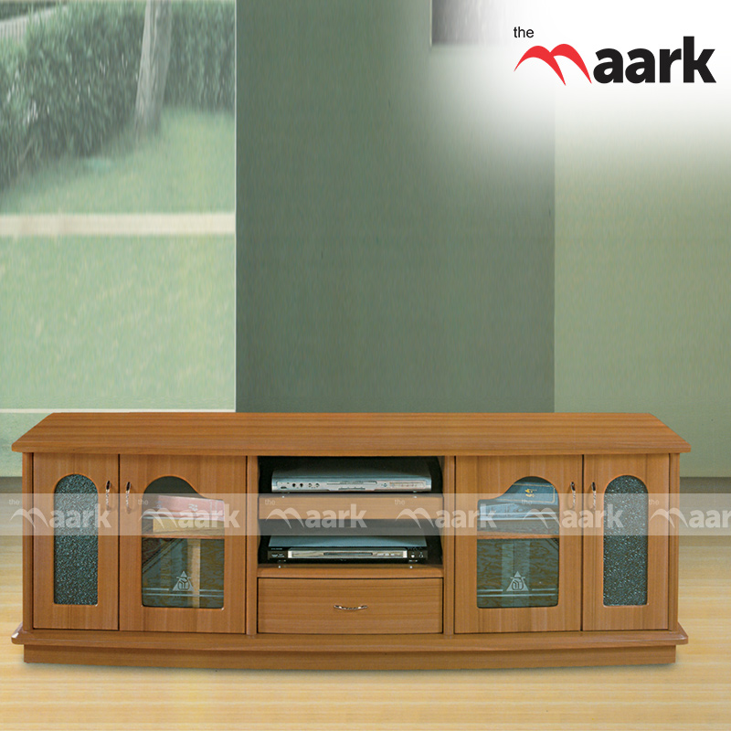 Wooden Door Open TV Cabinet