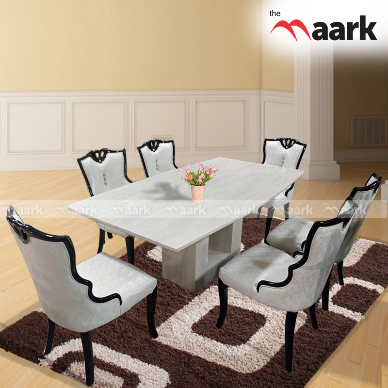 The Maark Rich White With Marble Dining