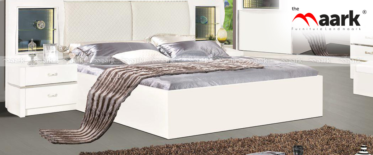 White Flated Upholstered Cot-Bedroomset