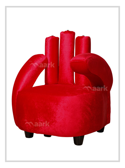 Finger Style Single Sofa-Red Color