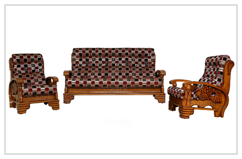 Fish Teak Wooden Craft Sofa Set 3+1+1