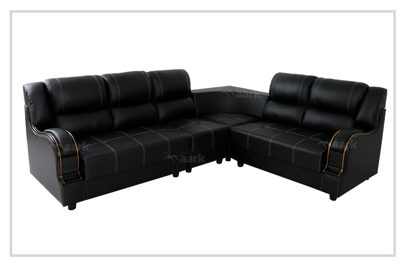 Professor Leatherette Corner Sofa