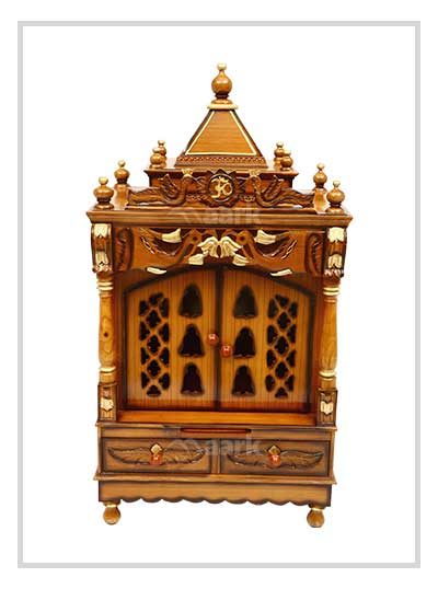 Traditional Wooden Light Pooja Racks