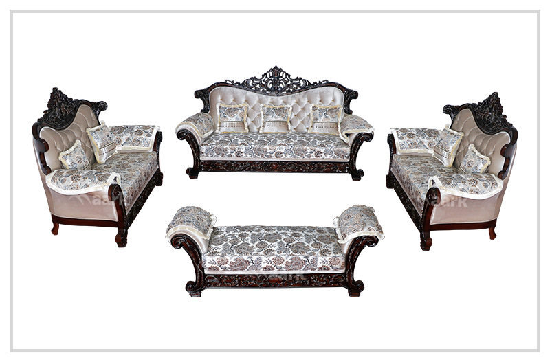 Zeenat Teak Wood Royal Sofa