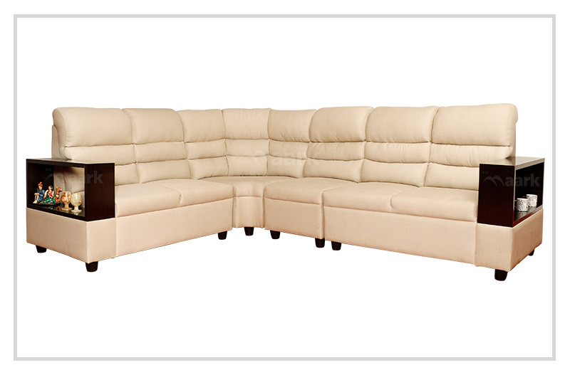 Alvin Corner Leatherette Sofa Set