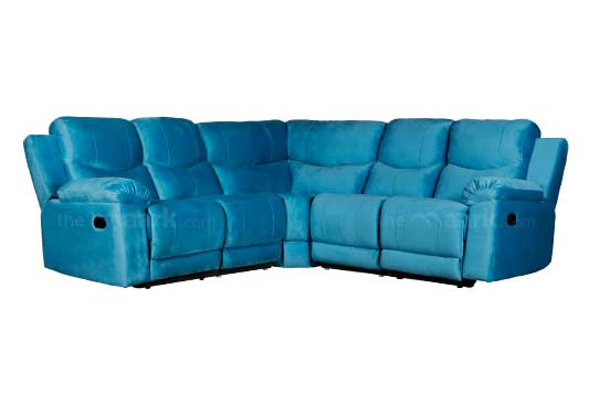 ANANDHAM CORNER RECLINER SOFA IN BLUE COLOR