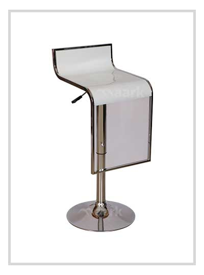 Bar Stool -White Silver Color