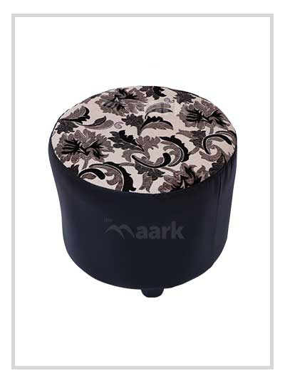Black Puffy Stool