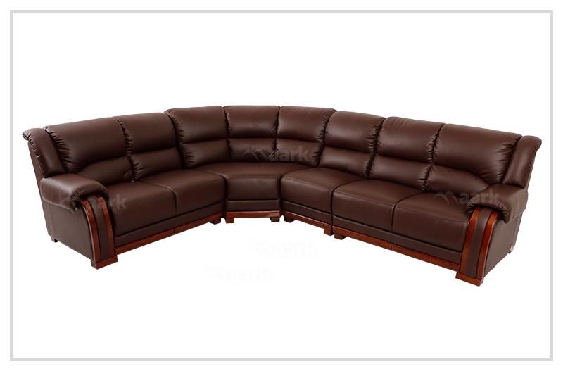Browny Demos Leatherette Corner Sofa