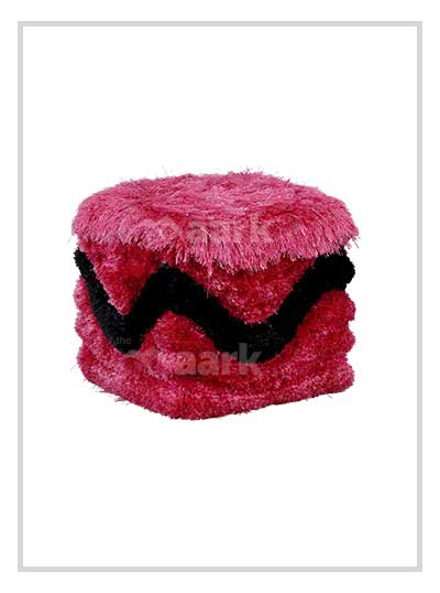 Classic Pink Puffy Chair