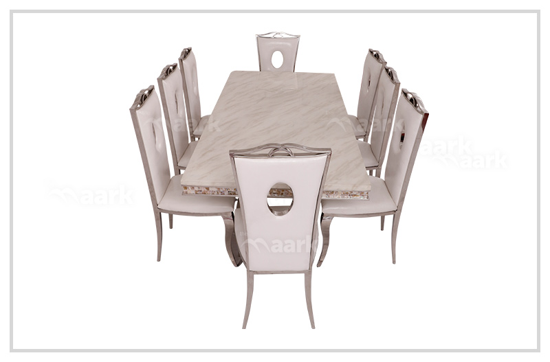 Wooden Grace Marble Dining