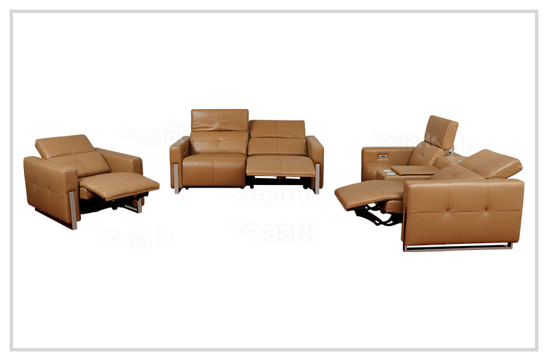 Lara Leatherette Motorized Recliner Sofa 2+2+1