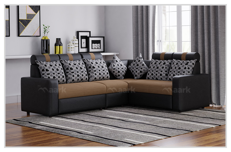 Magameru Combo Fabric Corner Sofa