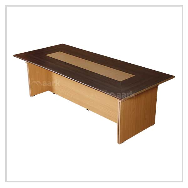 Wooden Office Table in Sandal and Brown Color
