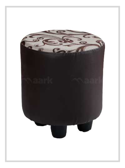 Puffy Stool in Sandal and Brown Color