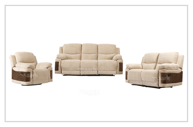 Rich Soft Manual Recliner Sofa 3+2+1