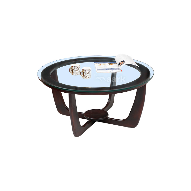 CIRCLE COFFEE TABLE RUBBERWOOD