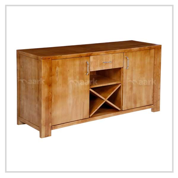 Florian Rubber Wood TV Unit
