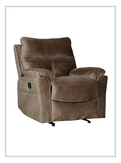 Single Recliner Fabric Sofa