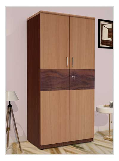 PF Premium Wooden Two Door Wardrobe