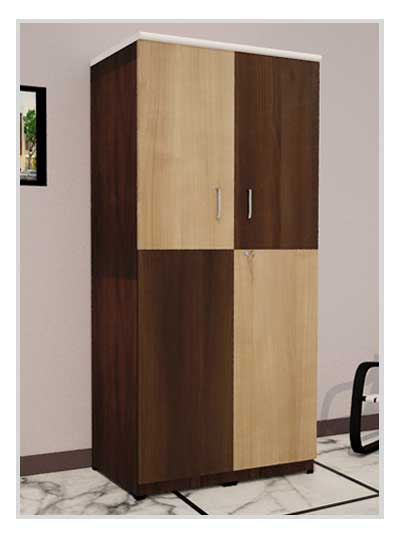 Double Shade Wooden Wardrobe